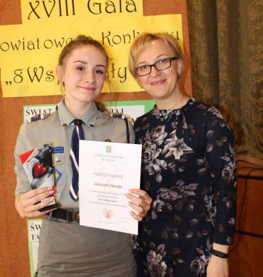 Ola Nowałka wyróżnioną wolontariuszką